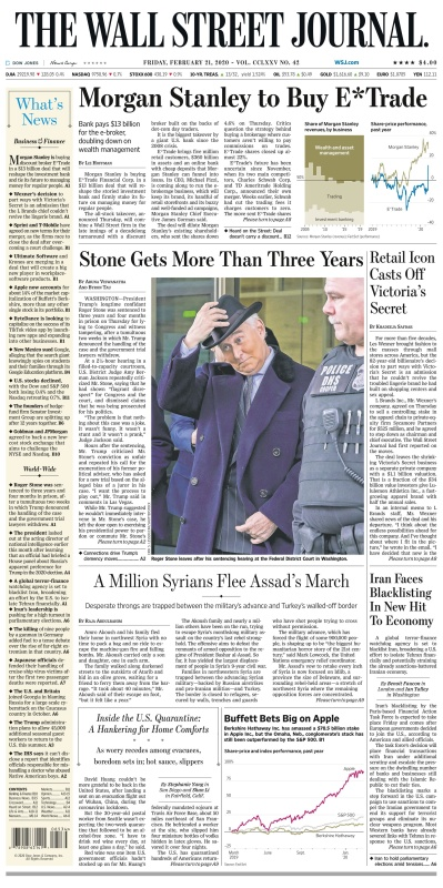 The Wall St Journal 21Feb(2020)