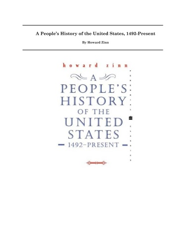 Zinn H - A People ' s History of the United States - (2003)