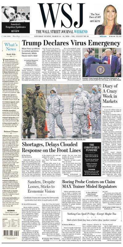 The Wall Street Journal - 14 03 2020 - 15 03 (2020)