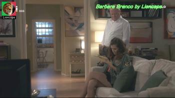 Barbara Branco sensual na novela Jogo Duplo