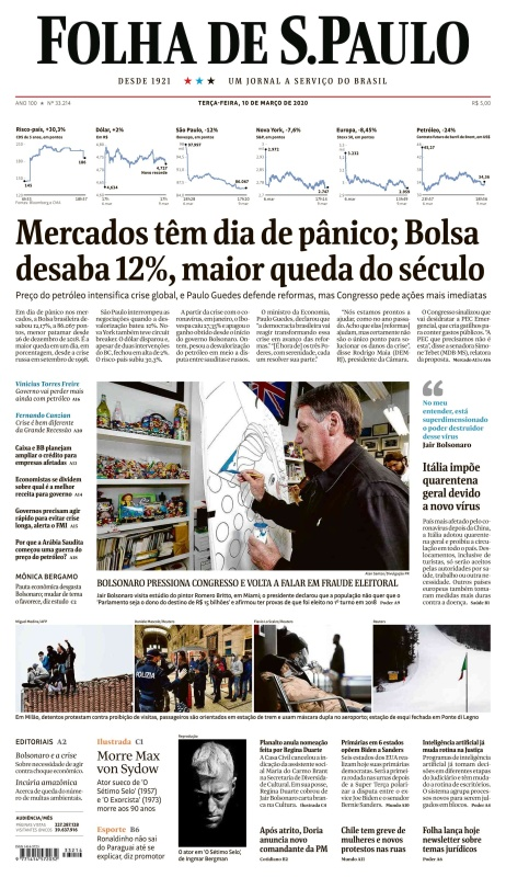 Folha de S 227 o Paulo - 10 03 (2020)