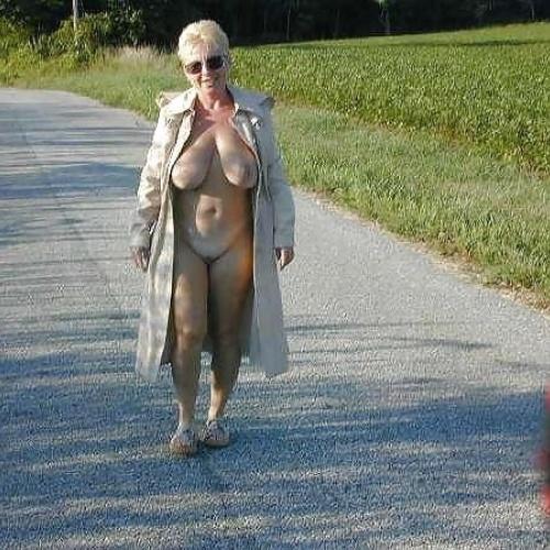 Totally naked older women