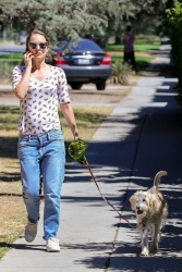 Natalie Portman - Out for a walk with her dog near Griffith Park in Los Feliz 09/17/2018