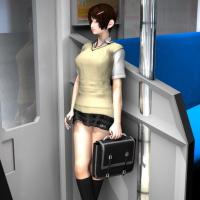 [3D VIDEO] Ultra Micro Mini Skirt Highschool Girl Upskirt: Escalation