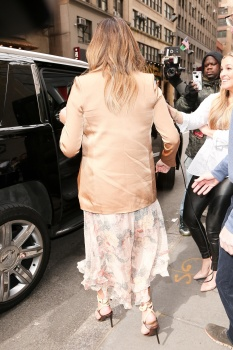 Chrissy Teigen leaving the Today Show in 11