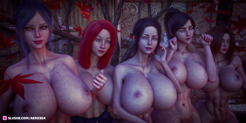 [Misc] [Aero3dx] Artwork Collection / Artwork Collection (Aero3dx, slushe.com) [3DCG, Animation, Big tits, Bikini, Body art, FUTA/Futanari] [JPG]