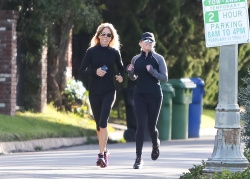 Reese Witherspoon - Jogging in Brentwood 02/12/2019