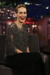 Sarah Paulson - Jimmy Kimmel Live: October 2nd 2018