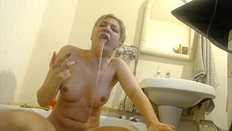 HappySloth - Vomit - gag tears - licking vomit [FullHD 1080P]