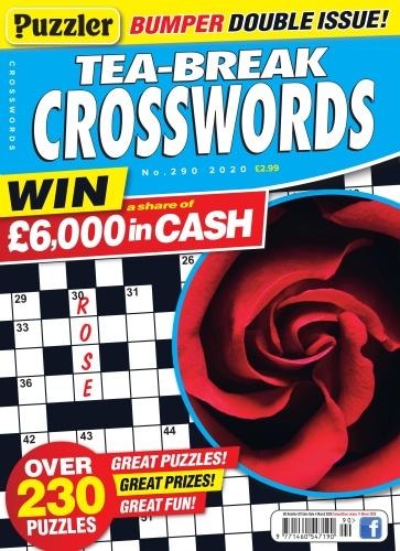 Puzzler Tea-Break Crosswords - Issue 290 - February (2020)