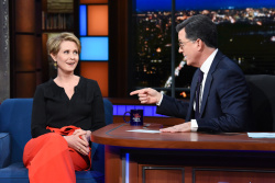 Cynthia Nixon - The Late Show with Stephen Colbert: April 18th 2018