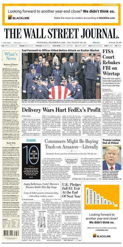 The Wall Street Journal - 18 12 (2019)