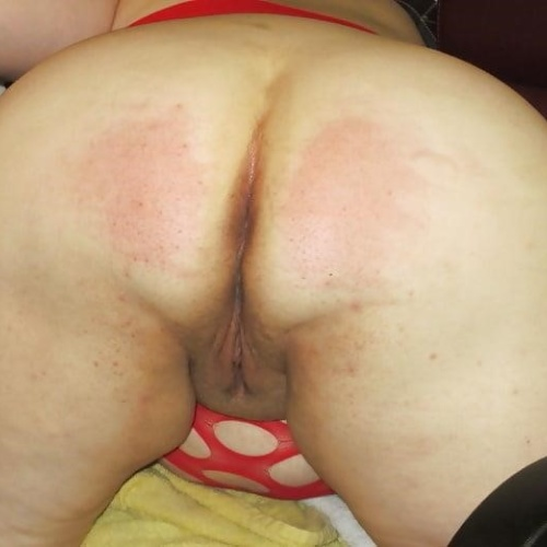 Naked wife spanked