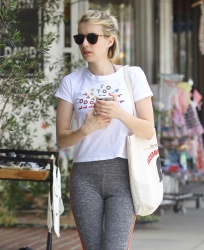 Emma Roberts - Outside Cycle House in Studio City 7/7/18