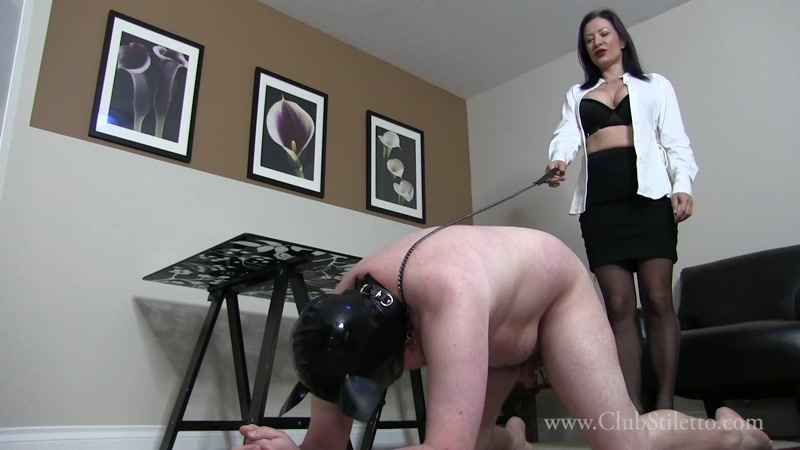 Miss Jasmine starring in video (Slouchy loser Office pig Part 2)  of (Club Stiletto FemDom) studio [FullHD 1080P]