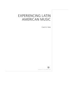 Carol A Hess Experiencing Latin American Music (2018)