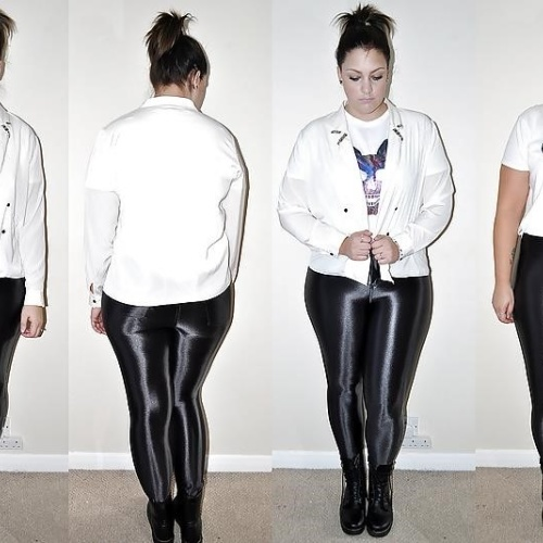 Black latex pants plus size