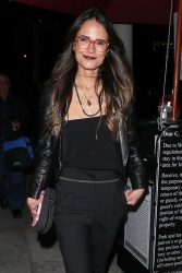 Jordana Brewster - Outside Craig's restaurant in West Hollywood 01/20/2018