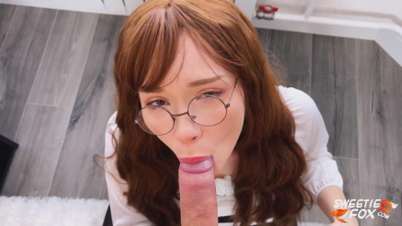 SweetieFox - Adult SchoolGirl Sucks Teacher's Dick [UltraHD/4K 2160P]