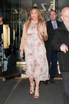 Chrissy Teigen leaving the Today Show in 7