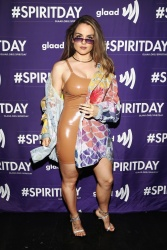 JoJo Levesque at the Justin Tranter and GLAAD Presented 'BEYOND' Spirit Day Concert at The Sayers Club in Hollywood, California - 10/17/18