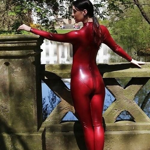 Sexy asian latex