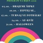 Program Klubu Magnet říjen 2019