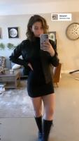 Katelyn Nacon - Leggy in black calf-high boots 5/3/2020