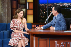 Jessica Biel - The Late Show with Stephen Colbert: August 15th 2018