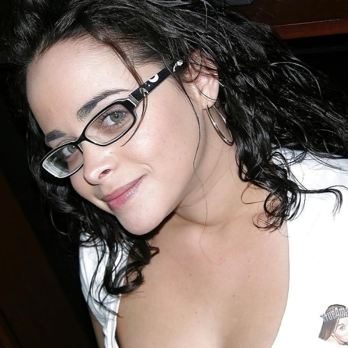 Hot nude girl with glasses