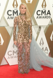 Carrie Underwood @ 53rd Annual CMA Awards in Nashville Nov 13, 2019