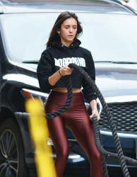 Nina Dobrev Outside The Dogpound Gym in New York City - 11/3/18