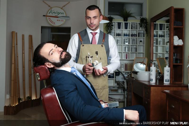 MenAtPlay: Dani Rivera, Miguel Angel – Barbershop Play (Bareback)