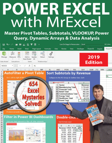 Holy Macro Books Power Excel  With MrExcel 2019    (2019)