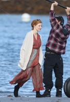 "Jessica Chastain - on the set of ""Eve"" in Gloucester, Massachusetts 9/25/18"