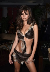 Emily Ratajkowski at Travis Scott's Halloween Party in Los Angeles - 10/31/18