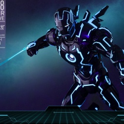 "Iron Man 2 - Mark IV Neon Tech ""Toy Flair Exclusive 2018"" 1/6 (Hot Toys) Ue8DKwef_t"
