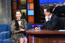 Emilia Clarke - The Late Show with Stephen Colbert: April 2nd 2019