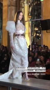Bella Hadid - See Trough runway at FW20 fashion show in Paris 29/2/2020