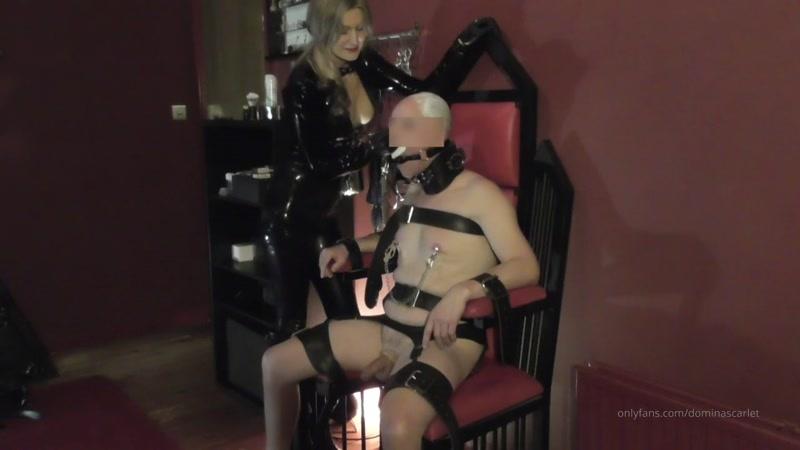 Domina Scarlet starring in video (Shaving My Prisoners Head) [HD 131 MB]