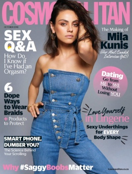 Mila Kunis - Cosmopolitan South Africa - October 2018