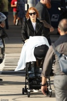 """Jessica Chastain - arriving to the set of """"Eve"""" in Boston 10/12/18"""