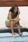 Isabela Moner showing her beautiful feet in a sexy bikini at the pool, celebrity feet, foot fetish pictures at Karina's Foot Blog