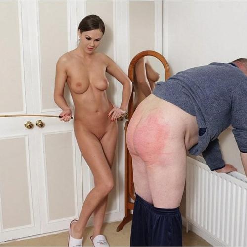 Lesbian femdom spanking