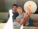 Sophie Turner showing her sexy soles on a yacht, celebrity feet, foot fetish pictures at Karina's Foot Blog