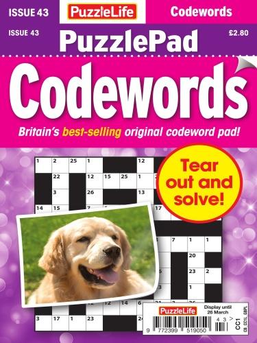 PuzzleLife PuzzlePad Codewords - Issue 43 - February (2020)