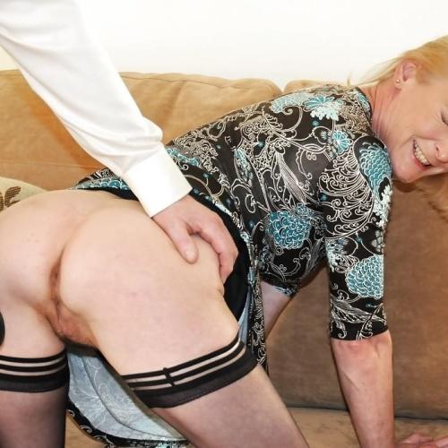 Sexy milf spanking