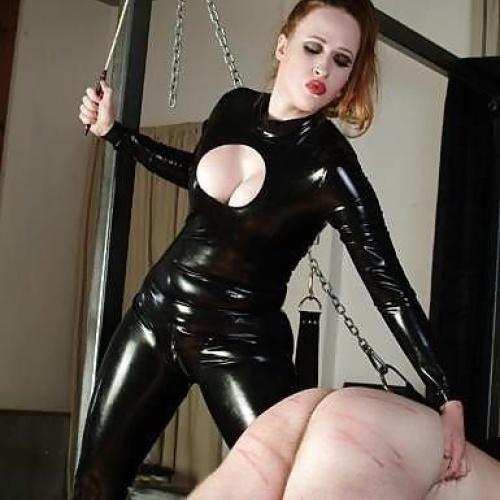 Mistress whips slaves