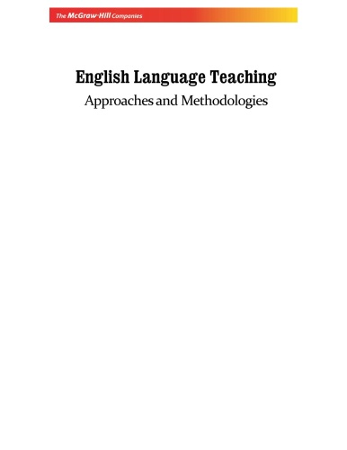 English Language Teaching - Approaches and Methodologies