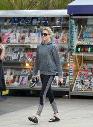 Charlize Theron - Out  for a morning workout at Soul Cycle in LA 10/30/17